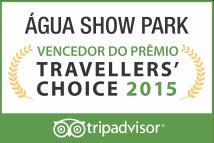 Água Show Park vencedor do prêmio Travellers'Choice 2015
