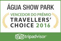 Água Show Park vencedor do prêmio Travellers'Choice 2016